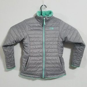 North Face Girls Large Reversible Puffer Jacket L